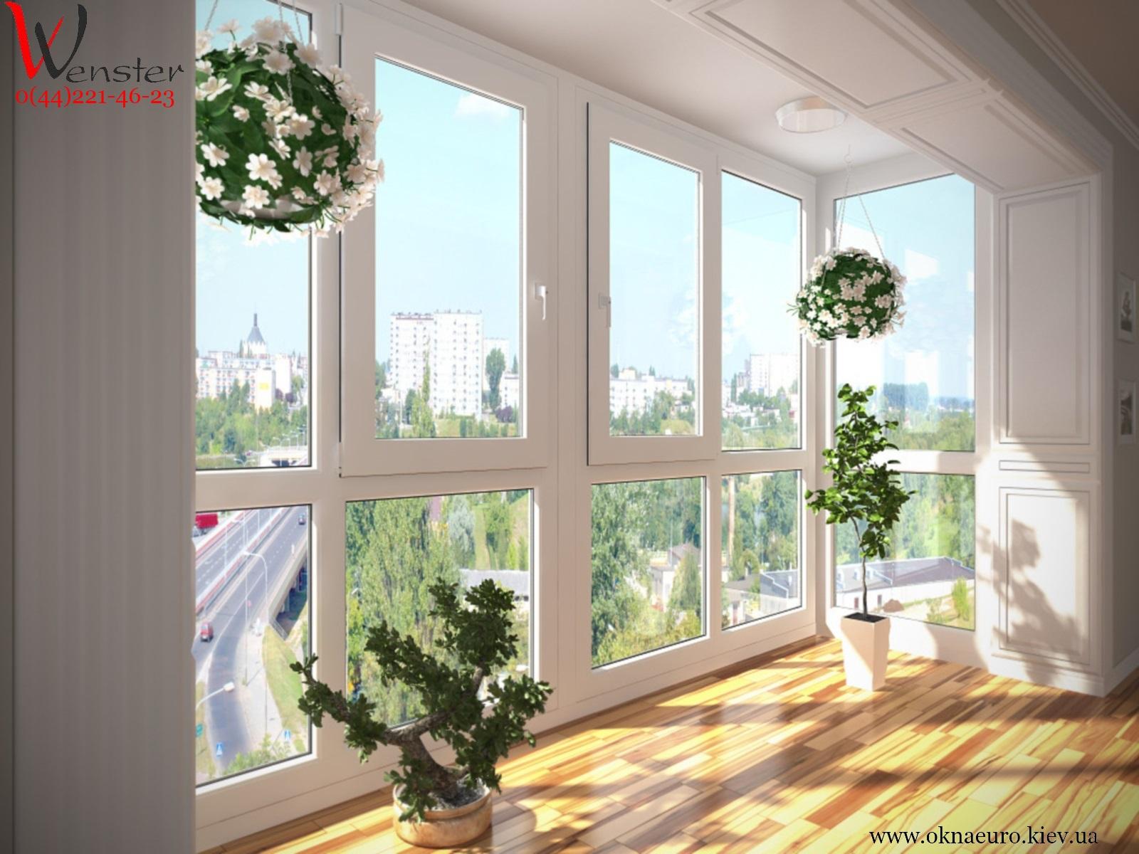 Панорамные теплые балконные двери.